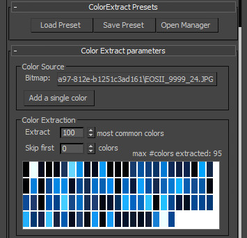Color Extract user interface