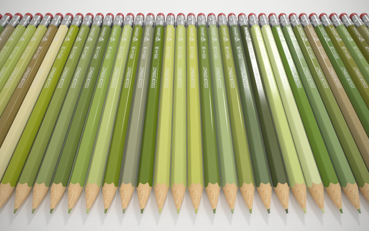 VP Color Extract example pencils