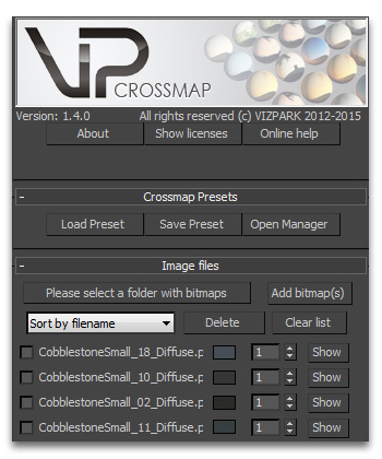 Crossmap user interface