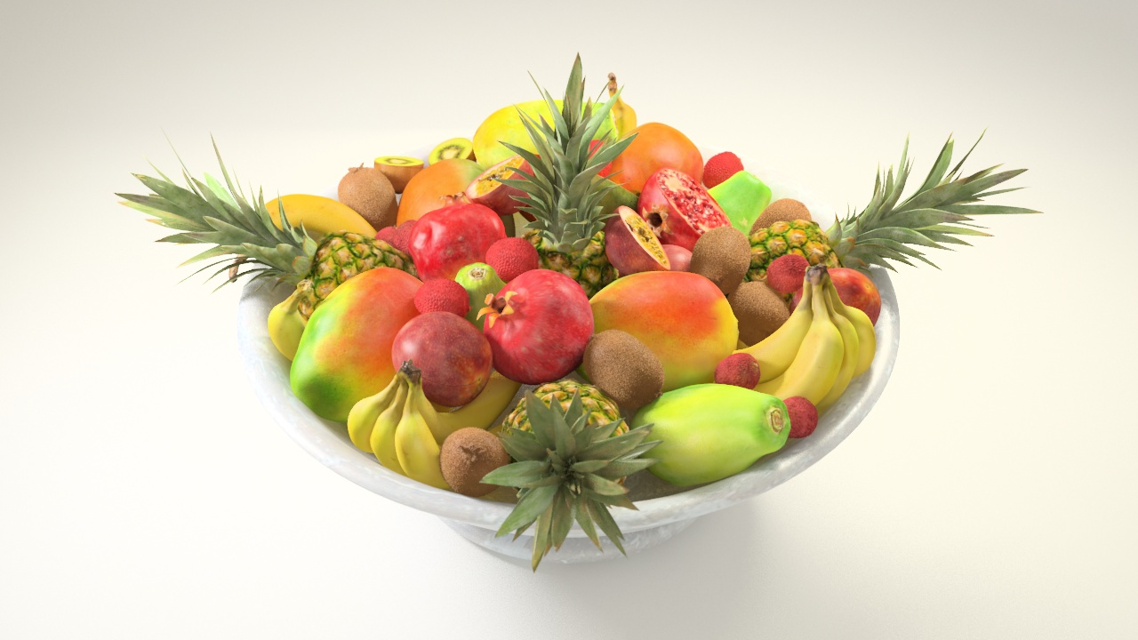VP Marble Bowl - Exotic fruits 1