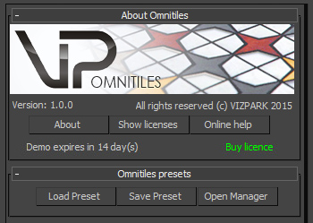 Omnitiles user interface
